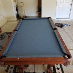 8' Slate Brunswick Pool Table